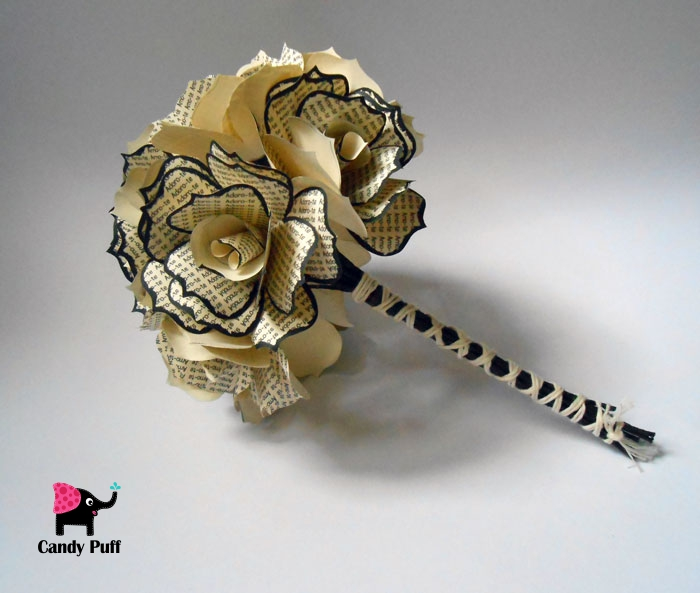Rosas de Papel com Palavras 3