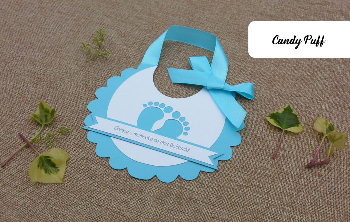 Convite babete batizado candy puff texto do convite babete altavistaventures Gallery