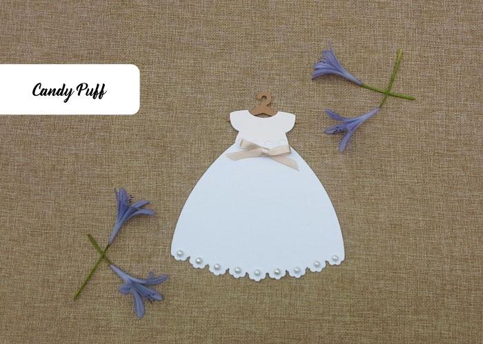 convite vestido branco para primeira comunhão de Menina