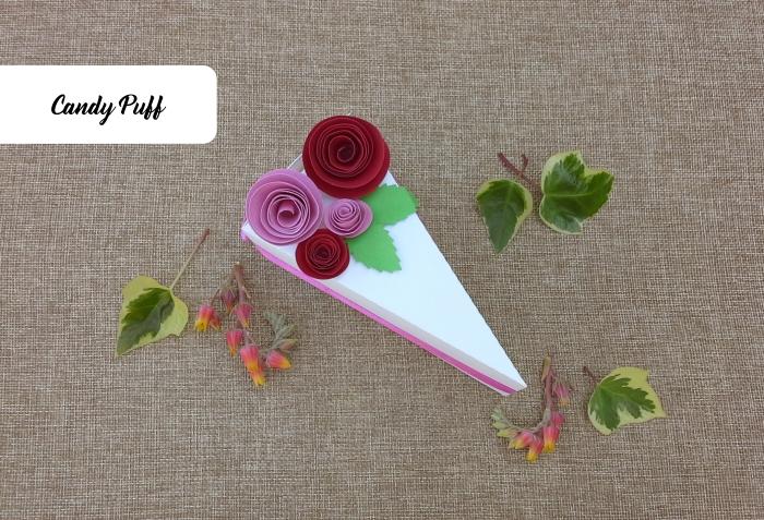 Embalagem Bolo com rosas para guloseimas