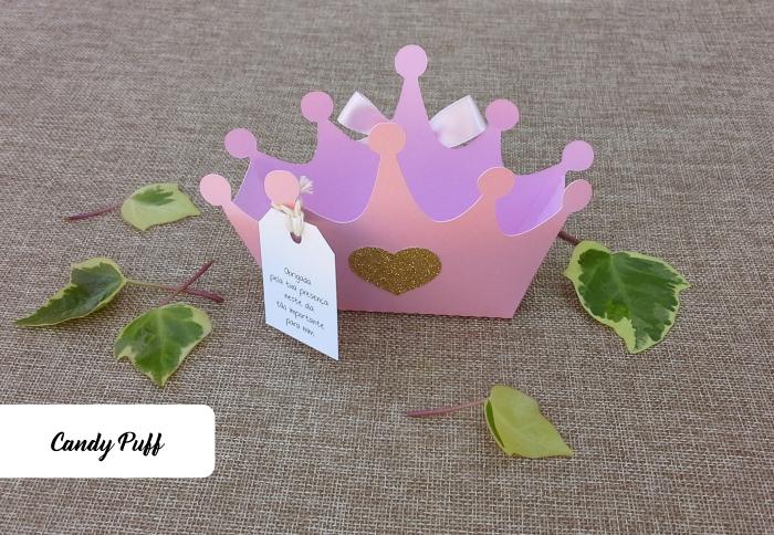embalagem coroa de princesa para guloseimas