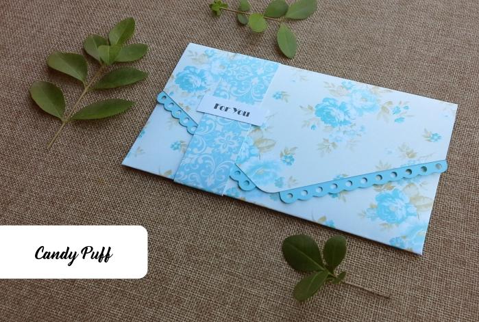 Envelope Azul Floral
