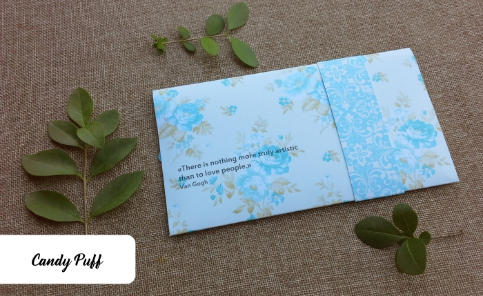 Envelope Azul Floral 2