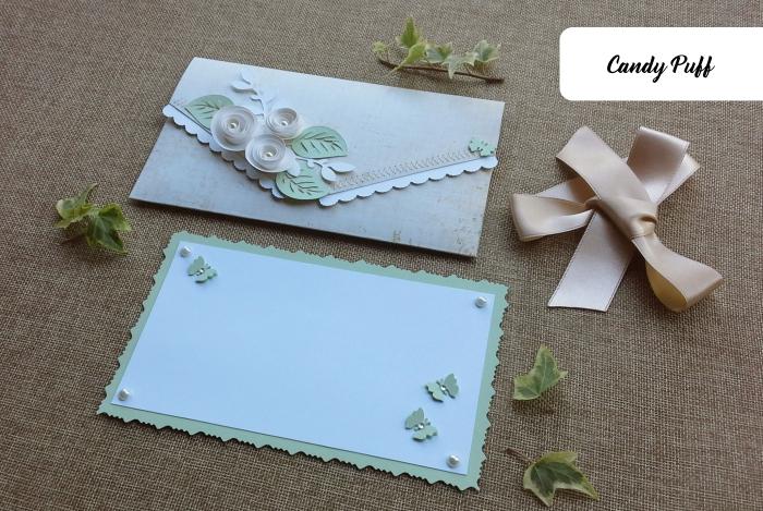 Envelope Floral Bege 1