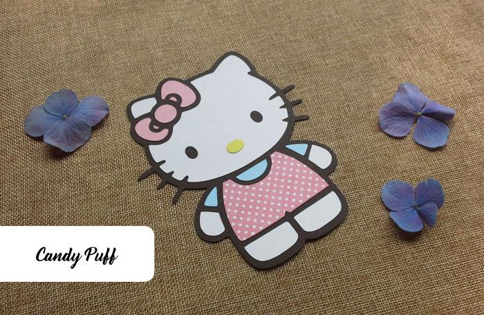 Convites de Aniversário Hello Kitty em cor-de-rosa destinados a meninas