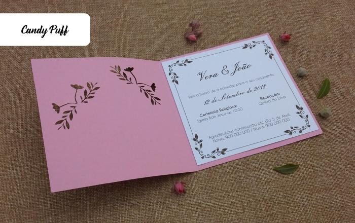 Convites de casamento rosa