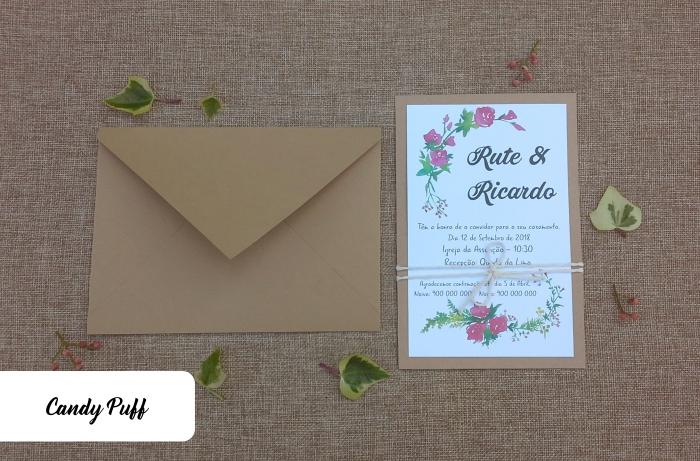 Convites de Casamento Summer Flowers