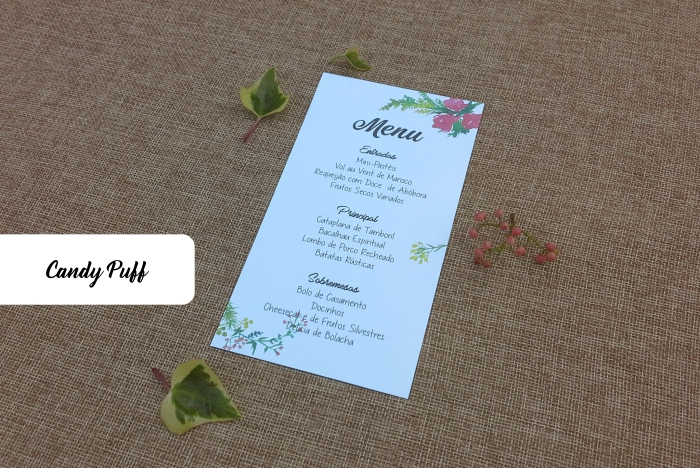 Ementa floral para casamento