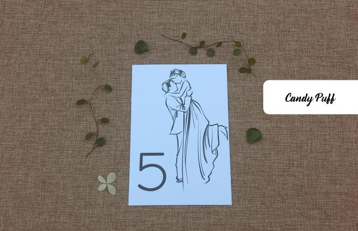 Marcador de mesa para casamento