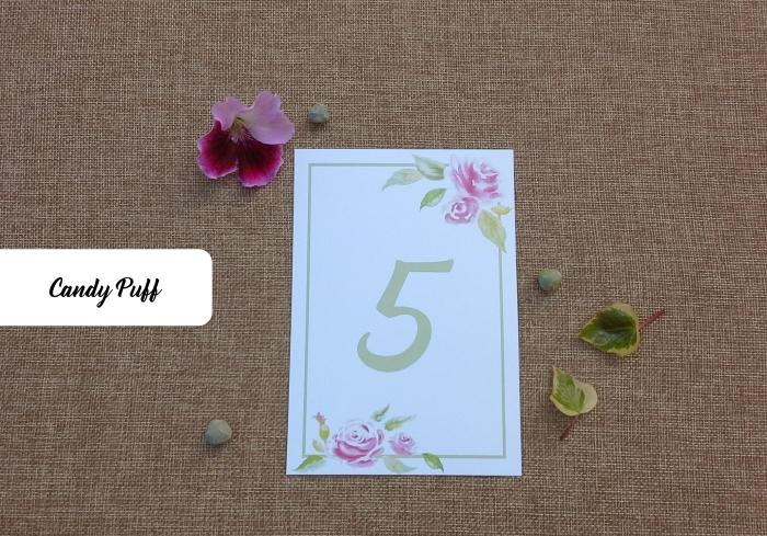 marcador de mesa floral para casamento