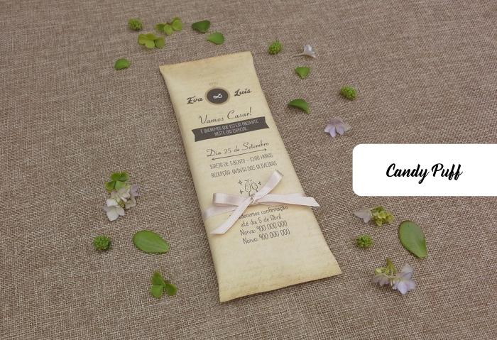 Convites de Casamento Chocolate
