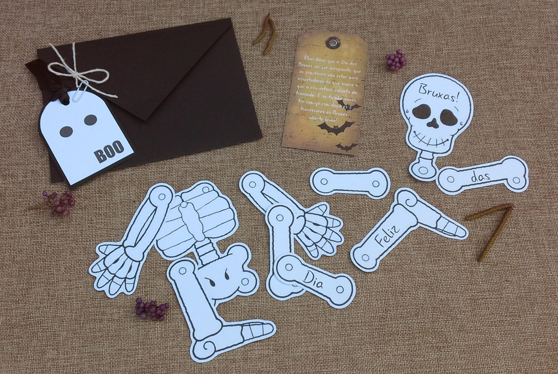 dia das bruxas esqueleto