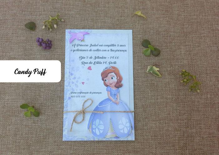Convite de Aniversário Princesa Sofia
