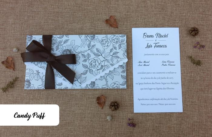 Convite de Casamento Rosas