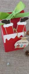 Embalagem de Natal Chaminé