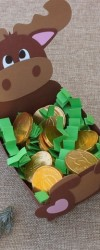 Rena Gulosa com Moedas de Chocolate