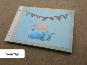 livro de honra bebé na nuvem