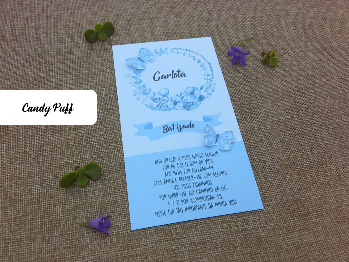 Pagela Floral para Batizado