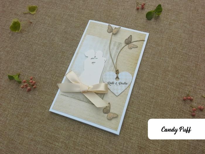 convite de casamento com borboletas