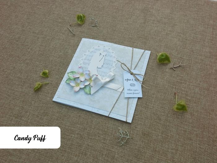 convite de casamento floral vintage