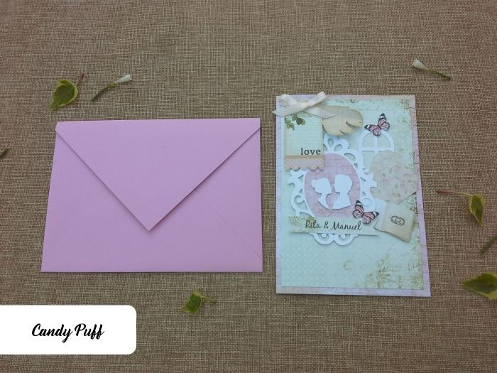convites de casamento cor de rosa e com borboletas