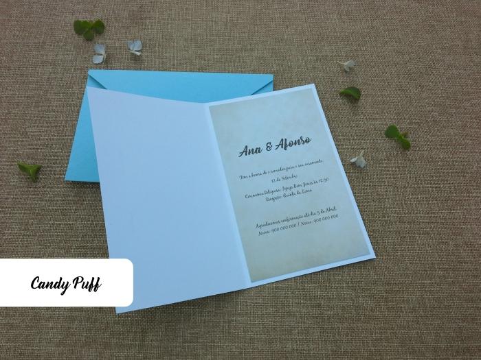 interior convite casamento