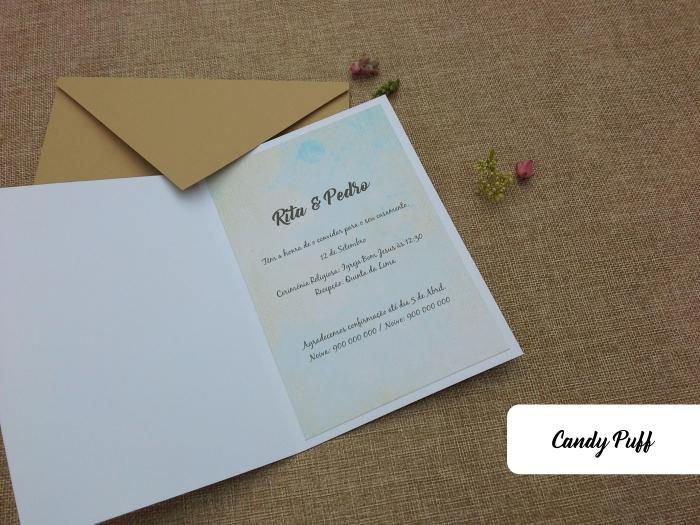interior de convite de casamento