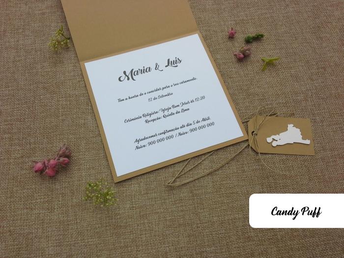 interior do convite de casamento