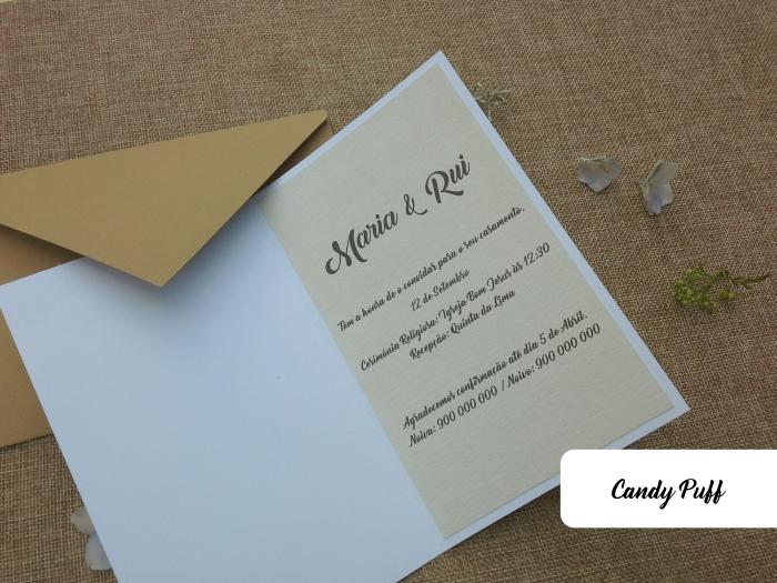 interior de convite para casamento