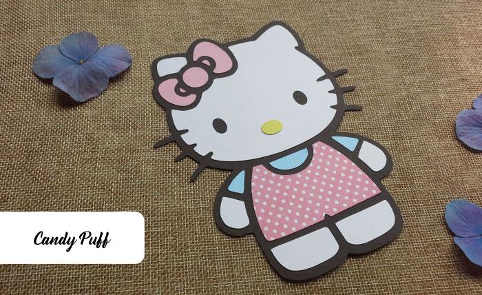 Convite Hello Kitty para Aniversário
