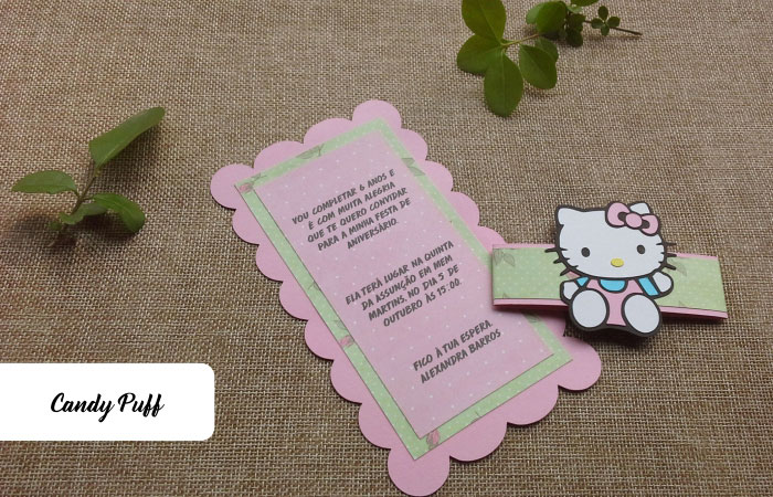 Convites Aniversário Hello Kitty