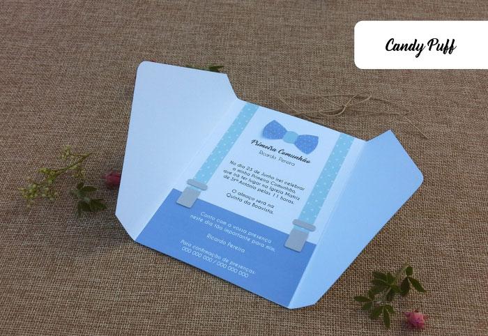 Convites Primeira Comunhão Rapaz personalizados e originais
