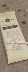 Convite de Casamento com Chocolate