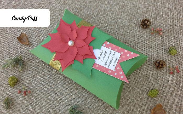 Caixa de chocolates com flor de natal
