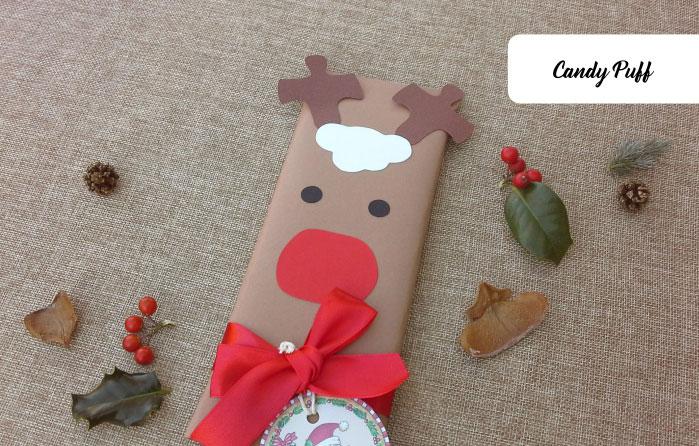 chocolates originais e personalizados para presente de natal - rena rudolfo