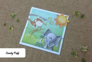 Convite de Aniversário Animais da Selva