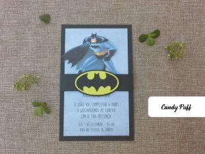Convite de Aniversário Batman