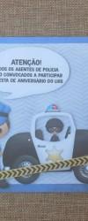 Convite de Aniversário Policia