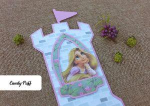 Convite de Aniversário Rapunzel