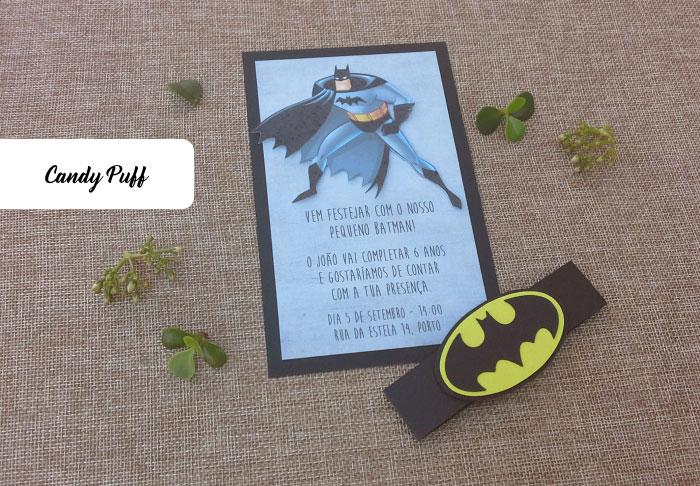 Convites Aniversário Batman