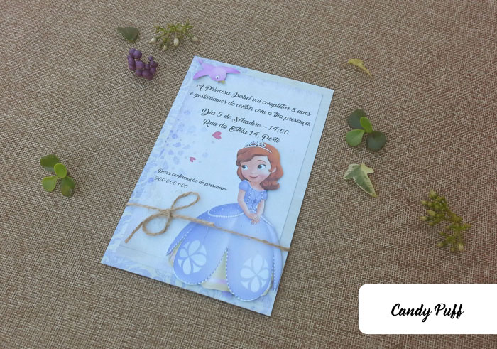 Convites Aniversário Princesa Sofia