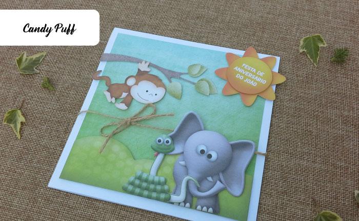 Convites de Aniversário Animais da Selva