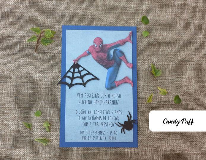 Convites de Aniversário Homem-Aranha