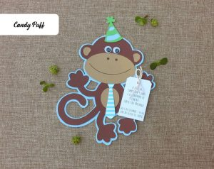 Convites de Aniversário Macaco