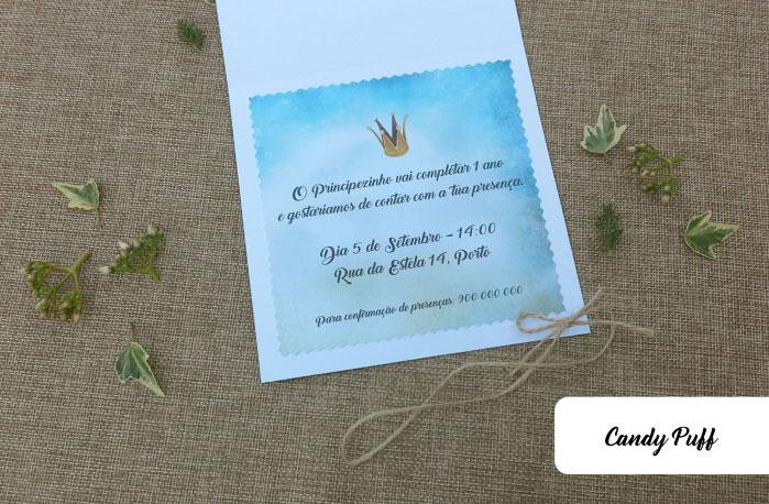 Interior Convite Principezinho para Aniversário