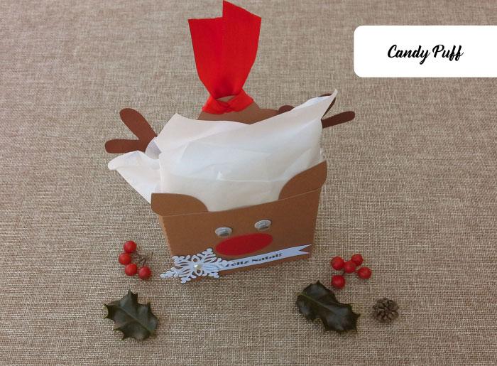 Lembranças de Natal com uma Rena e Guloseimas para Crianças