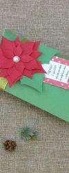 Lembranças de Natal Personalizada com uma mensagem de feliz natal e chocolates