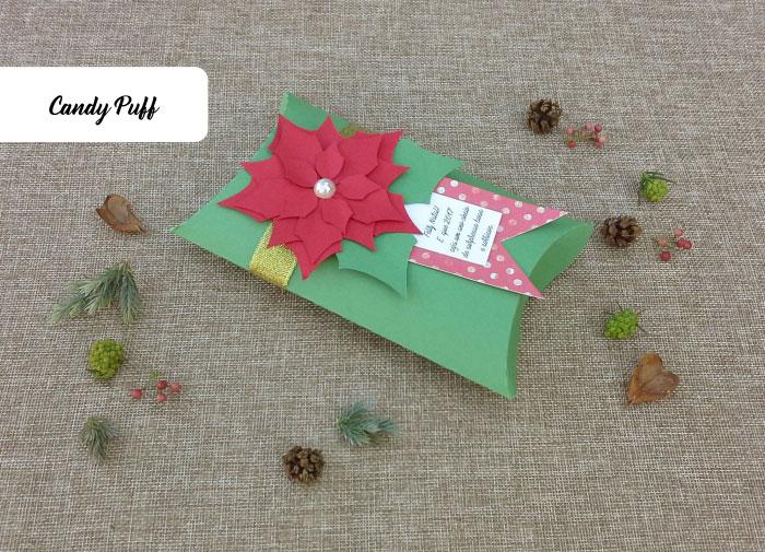 Lembranças de Natal Personalizadas com uma mensagem de feliz natal e chocolates