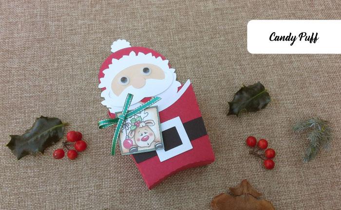 Lembranças Pai Natal que consistem em Embalagens Engraçadas para Guloseimas