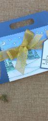 Lembrança de Natal com Mensagem de Boas Festas com Chocolate
